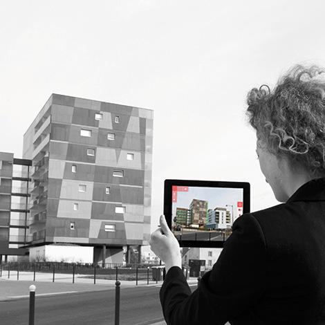 Application de réalité augmentée sur site