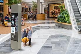 Selfie application in shopping center