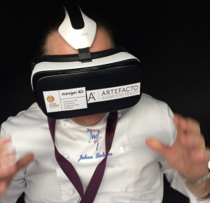 meilleur ouvrier de France qui utilise un casque de réalité virtuelle au SIRHA