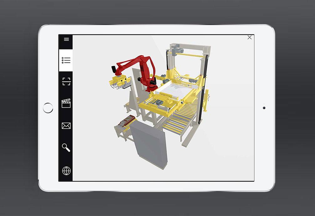 vue 3D dans l'application geppia