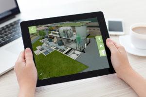 application de visite d'usine en 3D