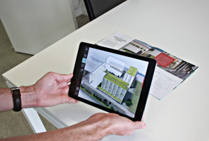marker-based augmented reality application