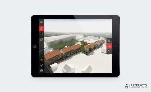 application modèle 3D aérien