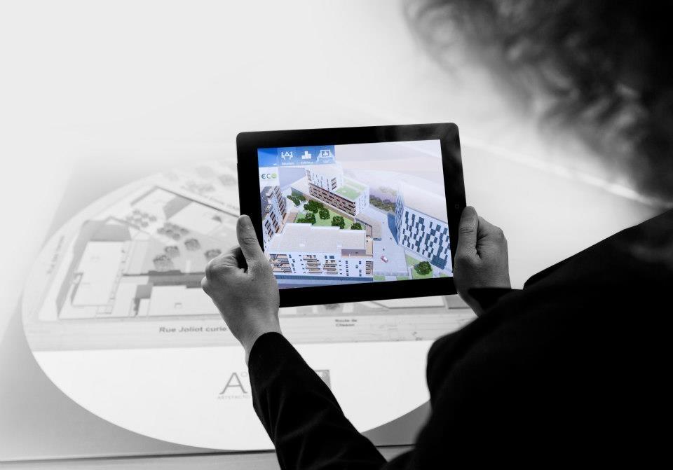 programme immobilier en réalité augmentée sur marqueur