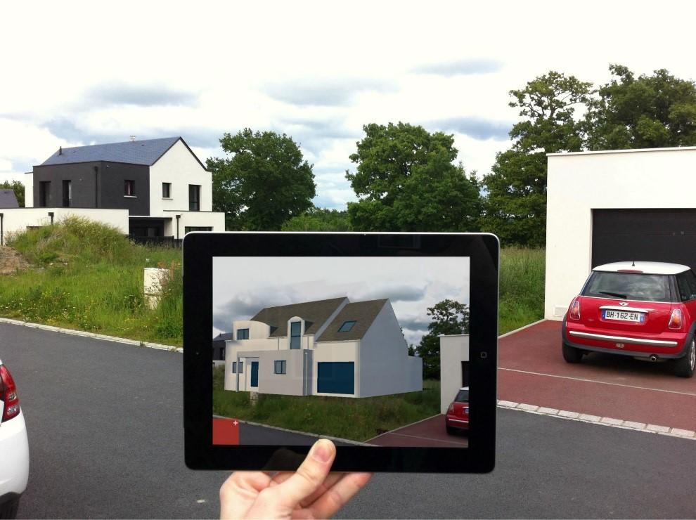 Réalité augmentée immobilier parcelle maison