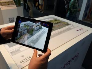 plans 2D réalité augmentée sur marqueur en salon immobilier