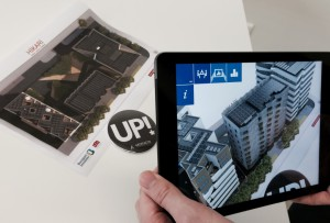 immeuble en réalité augmentée dans une application