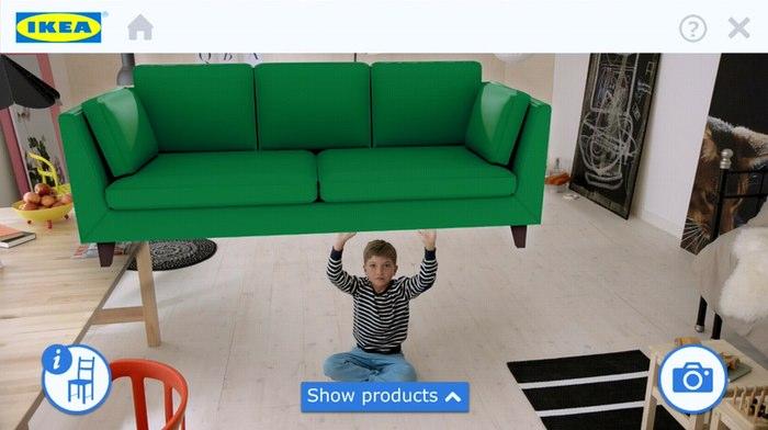 application de réalité augmentée pour IKEA