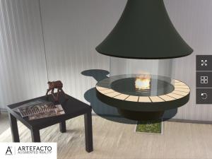 meuble 3D en réalité augmentée par une application Artefacto