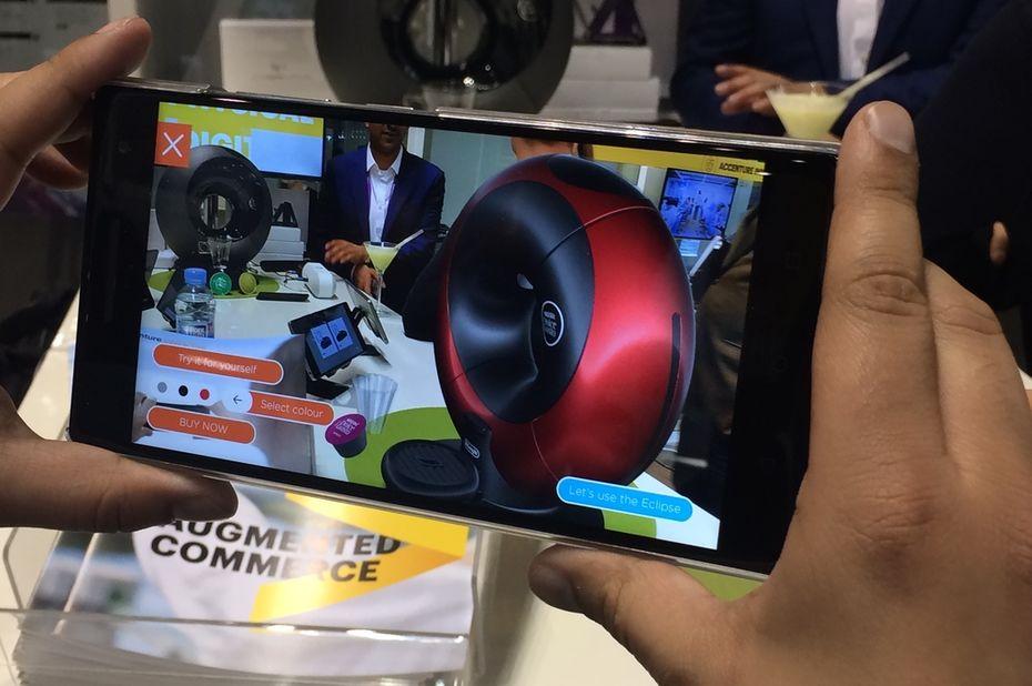 catalogue produit sur application android par Nestlé