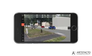 réalité augmentée sur site dans l'app convergence