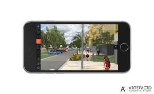 réalité augmentée sur site dans l'application Convergences