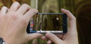 application de visite d'église à 360°