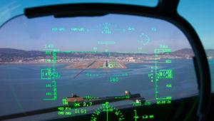 HUD dans un cockpit d'avion