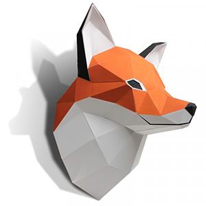 modèle 3D d'un renard de Agent Paper