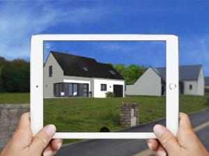 maison en réalité augmentée sur site