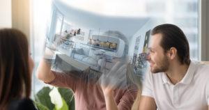 visite virtuelle d'un couple pour un achat immobilier