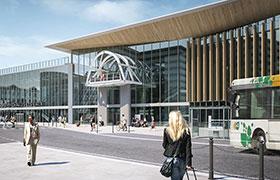 référence du projet de la gare de chambery