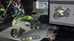 projet de moto en réalité mixte