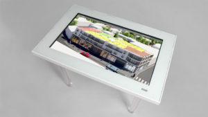 table tactile pour l'immobilier