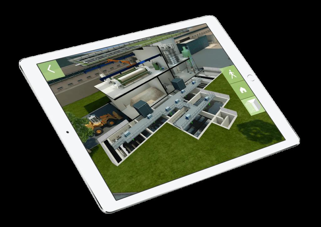 maquette 3D pour l'appel d'offre de l'usine Véolia