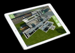 maquette 3D de l'usine Véolia