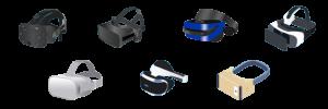 exemples de casques VR disponibles sur le marché
