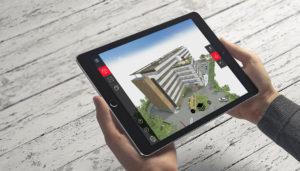 maquette 3D dans une application