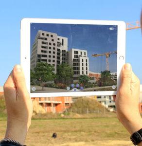 réalité augmentée sur site immobilier