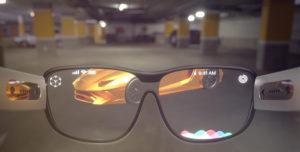concept de lunettes de réalité augmentée